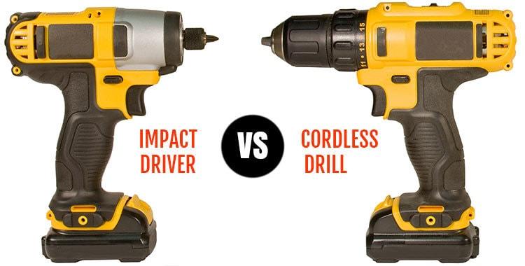 Impact Driver Vs Cordless Drill